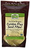 Now Foods Golden Flax Meal Organic 12 oz