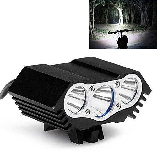 New 10000Lm 3 x CREE T6 LED Bicycle Lamp Light Headlight Cycling Headlamp Torch Light Color (3 Led Super Bright Dynamo)