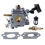 HIPA C1Q-S183 Carburetor with Gasket Fuel Filter Spark Plug for STIHL BR500 BR550 BR600 Blower