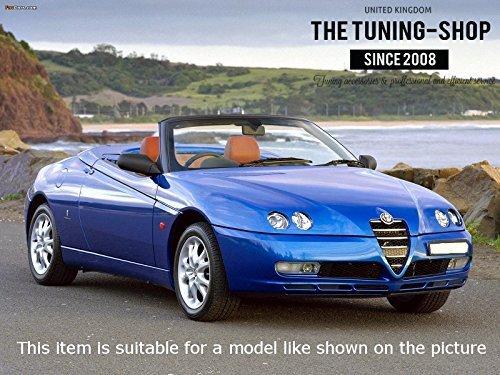 Pour Alfa Romeo GTV Spider/ /Frein /à main Gear /& Gu/êtres Noir en Cuir Italien Rouge GTV broderie Logo 05/ /1995