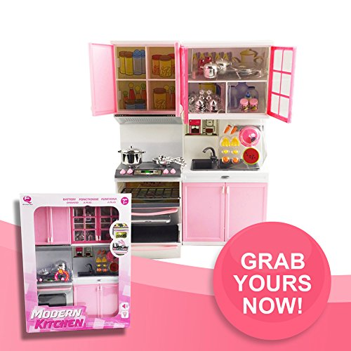 Toy kitchen set fun 28 pcs mini realistic kitchen for Black friday deals on kitchen cabinets