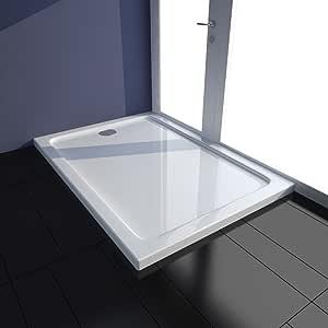 Tidyard Plato de Ducha Rectangular de Toque Moderno de ABS 70 x 100 x 4 cm Blanco: Amazon.es: Hogar