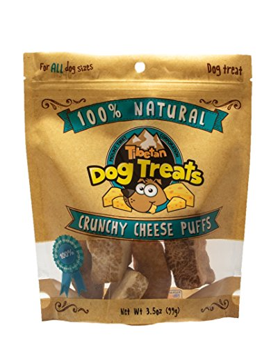 Price comparison product image Tibetan Crunchy Cheese Puffs All Natural Himalayan Yak Cheese Puffs for all Dog Sizes,  3.5oz bag