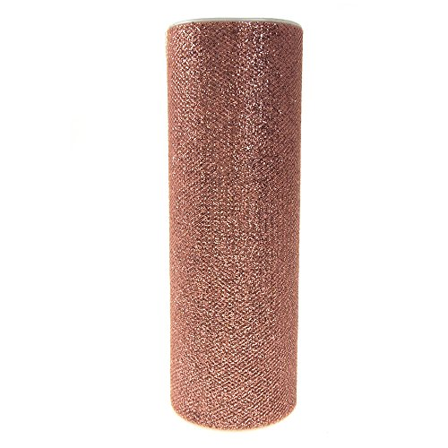 (Glitter Tulle Spool Fabric Net, 6-inch, 10-yard (Blush))