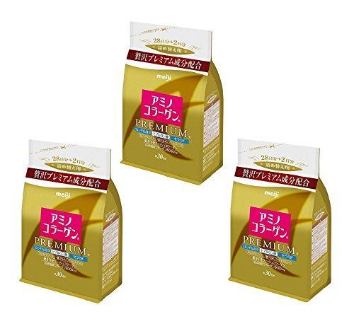 Japanese Beauty Suppliment Meiji Amino Collagen Premium Refill 214g x3set