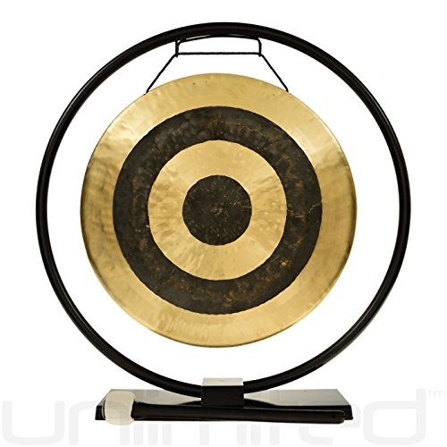 "14"" Gongs on the Au Courant Gong Stand"