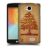 Head Case Designs Tree Wood Art Hard Back Case Cover for LG F60 D390N / D392 Dual SIM