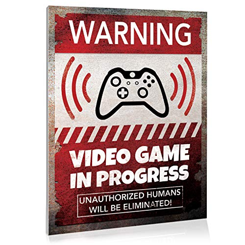 Video Game Room Sign Wall Decor, 9