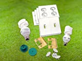Pure Energy Saving Kit, CFL Light Bulb Outlet & Switch Gaskets, Safety Caps