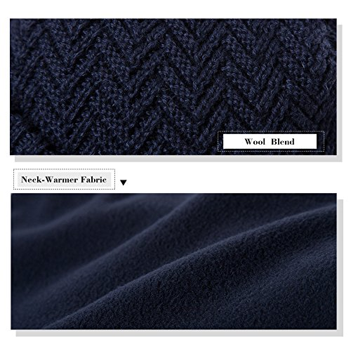 7a908178020 Siggi Wool Knit Newsboy Cable Bill Hats Men Winter Jeep Caps Visor Beanie  Black