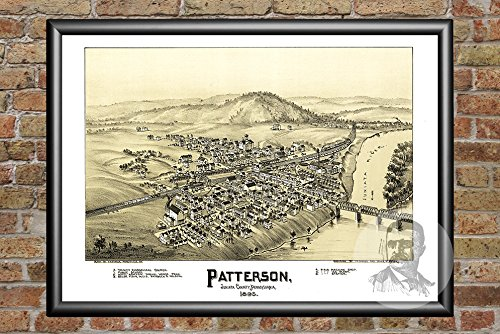 Ted's Vintage Art Patterson Pennsylvania 1895 Vintage Map Print | Historic Juniata County, PA Art | Digitally Restored On Museum Quality Matte Paper 12