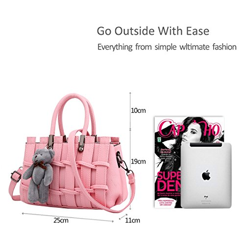 Light Pink Bag Dark Crossbody Female Girl Shoulder amp;Doris Tote Pin Nicole Handbag New Messenger bag Cute qw1xCg6