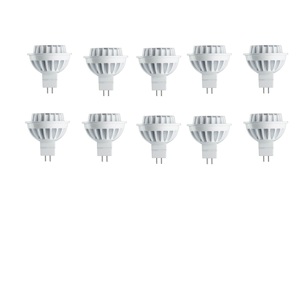 Philips 461590 50 Watt Equivalent MR16 Bright White 3000 Kelvin Dimmable Energy Star Certified LED Flood Light Bulb, 35 Degree Beam Angle (Pack of 10) by Philips
