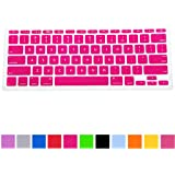 """HDE Ultra Thin Silicone Rubber Keyboard Skin Cover for Macbook Air 11"""" Notebooks (Pink)"""