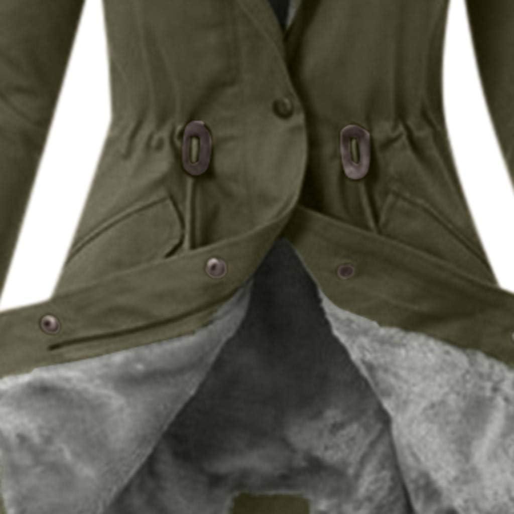 NANTE Top Womens Coat Fur Lining Coats Warm Thick Long Jacket Hooded Overcoat Boyfriend Outwear Outerwear Winter Tops Womens Blouses