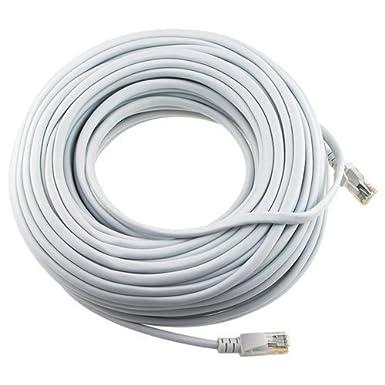 Importer520 200ft 65m White 200 Ft Rj45 Cat5 Cat5e Ethernet Lan Network Internet Computer Patch Cable