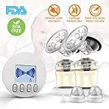 Double Electronic Breast Pump Comfortable 9 Levels Suction Power Adjustable, LCD Displayed, BPA Free