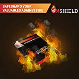 Fire Resistant Document Bag 12'' by 11'' Heavy Duty Fiberglass - Retardant Thread - Fire-Safe document Pouch Money / Bank File / Passport / Important Document Holder - Envelope Heat Protection