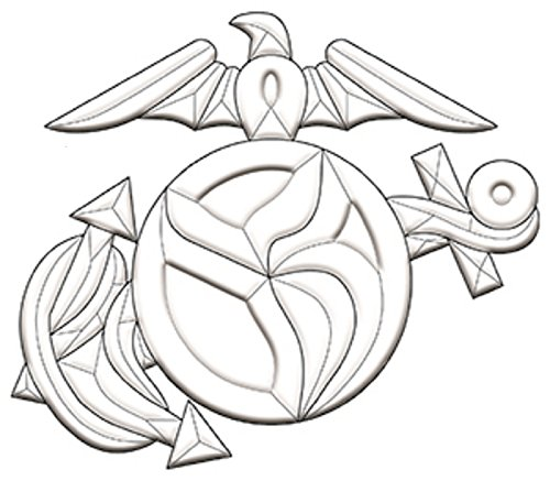 Stained Glass Supplies - United States Marines Emblem Bevel Cluster ()