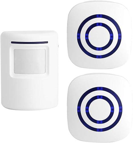 Timbre de puerta con sensor de movimiento para negocios, kit de timbre para exteriores, alerta de