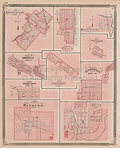 Amazon.com: Charlestown Greenville Salem Indiana Vintage Map ... on westport indiana map, chelsea indiana map, cambridge indiana map, galena indiana map, bethlehem indiana map, needham indiana map, burket indiana map, united states indiana map, scottsburg indiana map, west washington indiana map, burlington indiana map, wawasee indiana map, bartlett indiana map, chalmers indiana map, nabb indiana map, edwardsport indiana map, portsmouth indiana map, belmont indiana map, canton indiana map, burnettsville indiana map,
