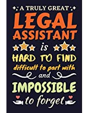 Legal Assistant Gifts: Lined Notebook Journal Diary Paper Blank, an Appreciation Gift for Legal Assistant to Write in (Volume 7)