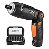 (US) Tacklife SDH13DC Cordless Screwdriver 3.6-Volt 2000mAh MAX Torque 4N.m - 3-Position Rechargeable -- 31 Screwdriver Bits in Case, 4 LED Light, Flashlight, USB Charging for Around House Small Jobs