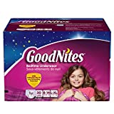 GoodNites Youth Pants for Girls, L\XL, 30 Count