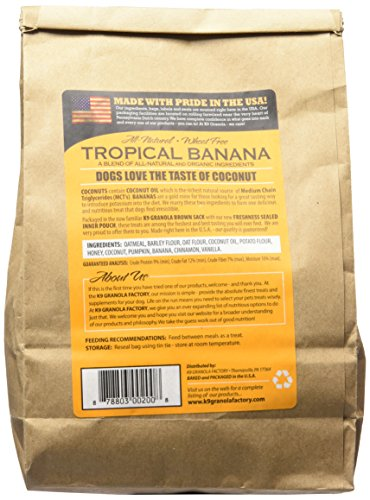 Picture of K9 Granola Factory Coconut Crunchers for Dogs All Natural Tropical Banana, 14-Ounces