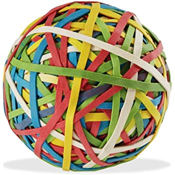 ACCO Rubber Band Ball, 270 Bands Per Ball, Assorted Colors, 1 Ball / Box (72155)