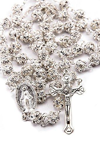Crystals Catholic Necklace Miraculous Crucifix product image