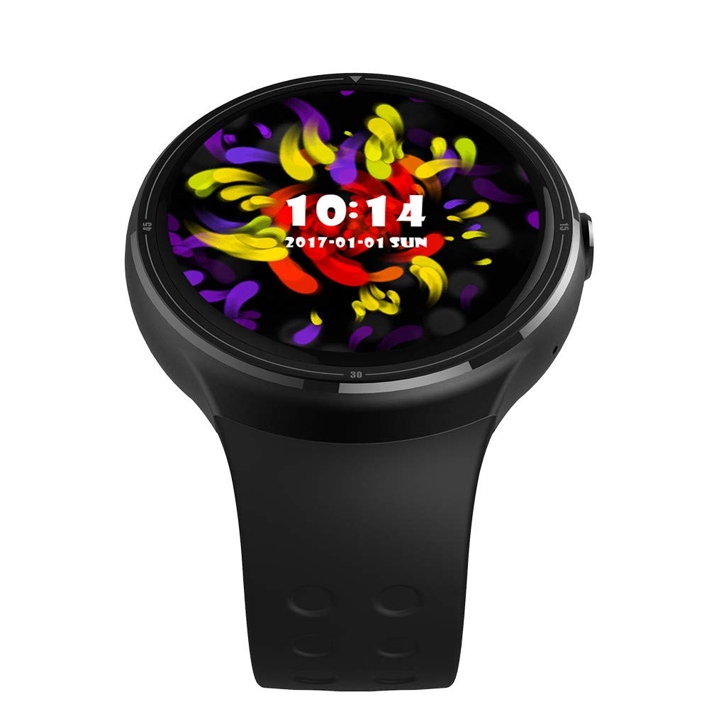 Digood Z10 Android 5.1 Bluetooth Smart Watch 1GB +16GB MTK6580 Quad Core 1.39 Smartwatch with WiFi GPS SIM for Android iOS (Black)