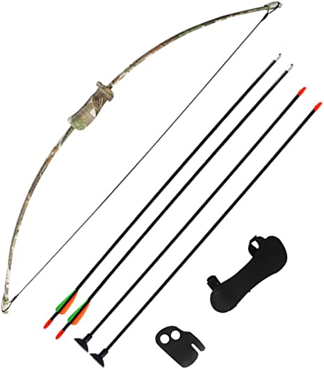 New Archery Kids Camo Recurve Bow and Arrow Junior Longbow Beginners Set Fun Kit