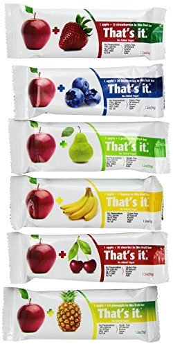 That's it Super Sampler, Pack of 12, (2 Apple+Blueberry, 2 Apple+Strawberry, 2 Apple+Pineapple, 2 Apple+Pear, 2 Apple+Cherry, 2 Apple Banana)