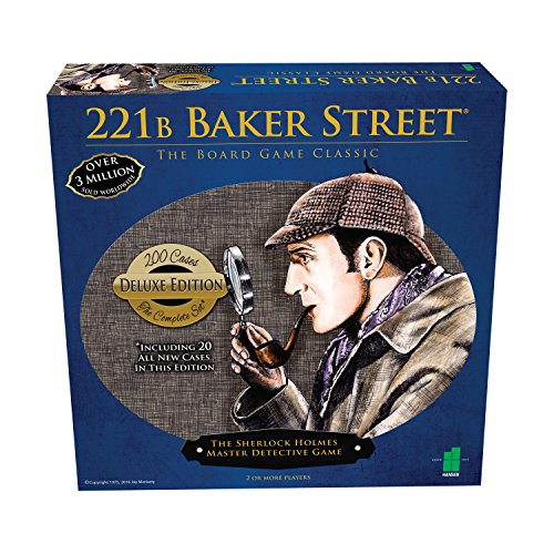 Deluxe 221B Baker Street Board Game - 200 Intriguing Adventures 2-6 Players (Sherlock Holmes Consulting Detective Board Game Review)