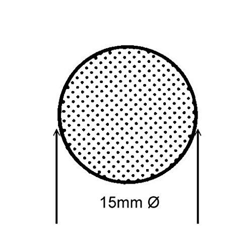 15mm Ø - 5m - Moosgummidichtung Rundschnur Schwarz - MR 10150 Sava