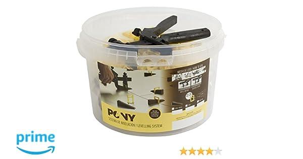 Pony PYKIT Sistema de Nivelación Transparente 1 mm: Amazon.es: Bricolaje y herramientas