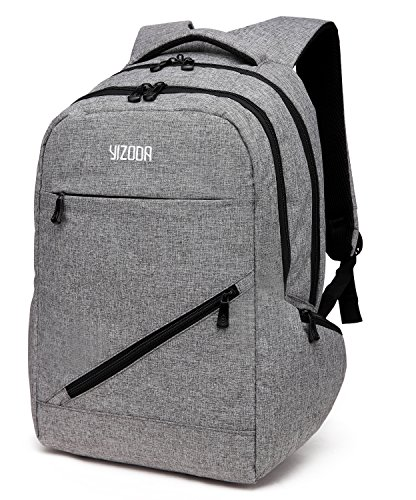 Water Repellent 15 Notebook Laptop Computer Backpack Bags Spine Protective Airflow System Dissipating Heat Grey 0873 by YIZHONGDA