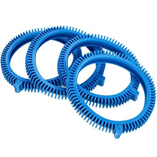 Zhehao 4 Pieces 896584000-143 Blue Front Tires Kit with Super Hump Replacement for Poolvergnuegen Pool Cleaners,Compatible with 2X, 4X Pool Cleaners,Pressure - Concrete Pool