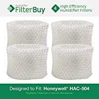 FilterBuy Honeywell HAC-504AW Compatible Humidifier Filters (Pack of 4). Designed to fit Honeywell HCM-600, HCM-710, HCM-300T & HCM-315T. Compare to Part # HAC-504AW / HAC-504.