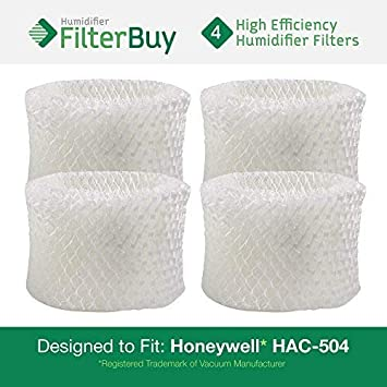 FilterBuy Honeywell HAC-504AW Compatible Humidifier Filter. Designed by to fit Honeywell HCM-600, HCM-710, HCM-300T & HCM-315T. Compare to Part # HAC-504AW/HAC-504. HF-HAC504