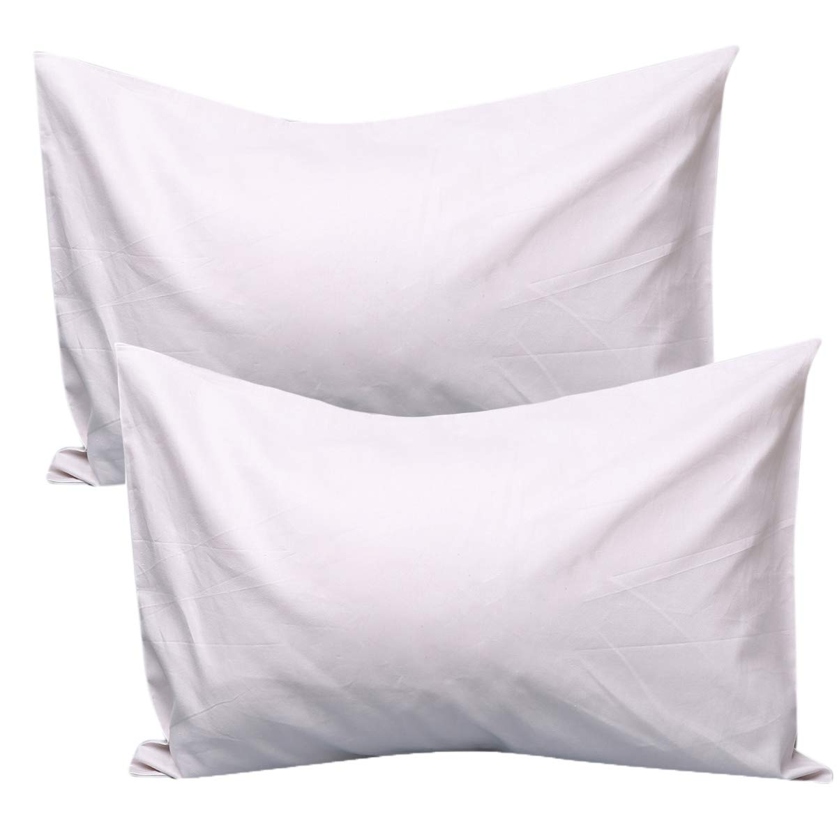 UOMNY Kids Toddler Pillowcases,100/% Cotton Travel Pillow Covers Set of 2 Pack,Pillowslip Case Fits Pillows sizesd 14x 20 for Kids Bedding Pillow Cover Baby Pillow Cases Light Gray