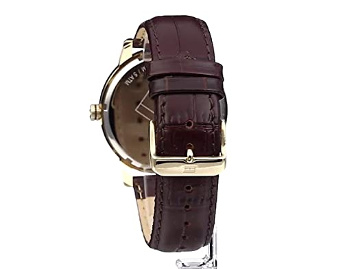 negativo Accusatore rimborso  Amazon.com: Tommy Hilfiger Men's 1710329 Gold-Tone Watch with Brown Leather  Strap: Tommy Hilfiger: Watches