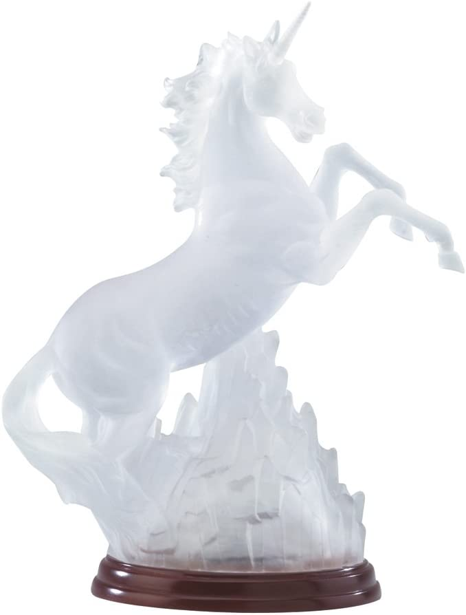 Gifts & Decor Frosted Unicorn Light Decorative Statue Rainbow Light