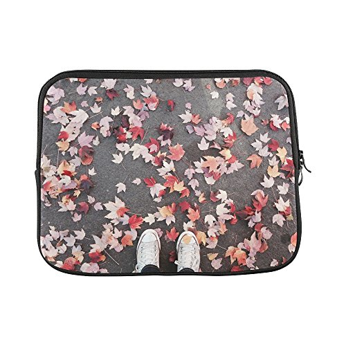 Design Custom Fall Leaves Portland Converse Autumn October Sleeve Soft Laptop Case Bag Pouch Skin For Macbook Air 11