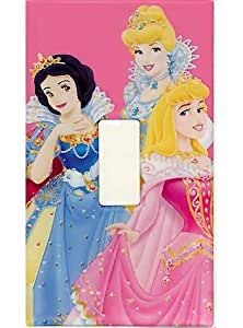 Disney Princess Light Switch Plate Sticker Girls Single