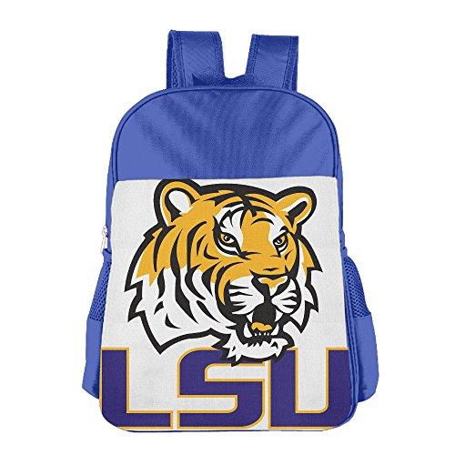 [JXMD Custom LSU Tiger Logo Teenager School Bagpack For 4-15 Years Old RoyalBlue] (Lsu Mascot Costume)