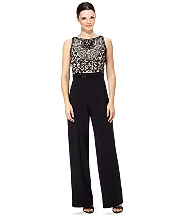 1f13132a5ce Adrianna Papell Beaded Halter Sleeveless Jumpsuit at Amazon Women s ...