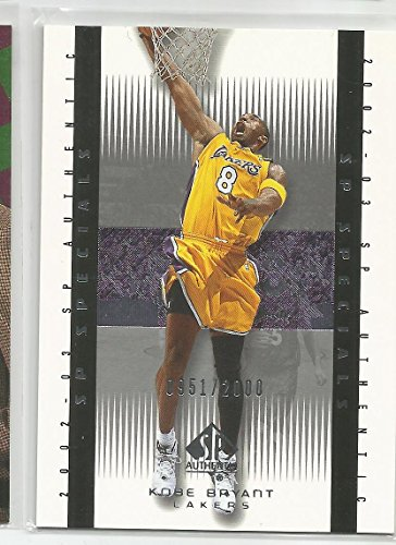2002-03 SP Authentic Basketball Kobe Bryant SP Specials Card # 951/2000 (CSC)