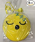 Emoji Cookies - Sleeping Face Symbol Emoji - Hand Decorated - Edible 4'' Emoticon Decorative Gourmet Sugar Cookies w/ Fondant - 4 pack - Individually Wrapped